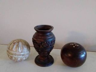 lot of 3 Wooden Home Decor Pieces