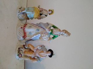 1 Japan Porcelain and 2 Ceramic Figurines