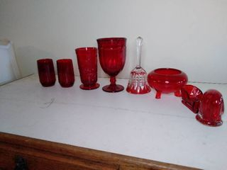 lot of Reg Glassware with 1 Bell