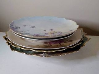 Japanese and Austria Gilded Plates