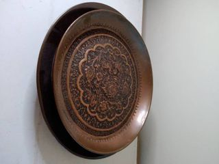 FRESH FlOWERS and Bird Designs on 2 Tin Plates