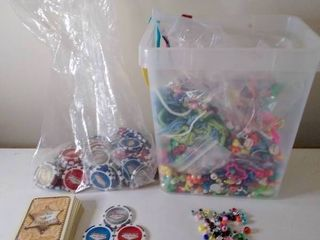 lot of Beads and Poker Chips