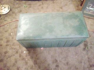 Green Chest with leather look