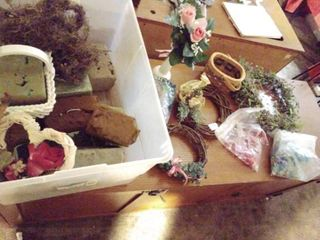 lot of Faux Flower Accessories