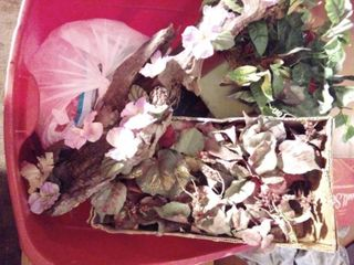 lot of Faux Floral and Scarecrow Fall Decor