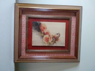 A Picture in a Picture of a Bird Painting   Signed