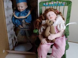 Ashton Drake Dolls with Single Rocking Chair