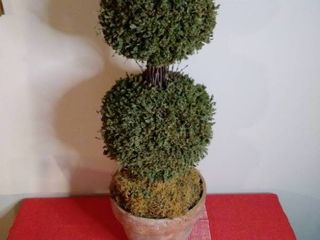 Double Head Faux Tree in Pot