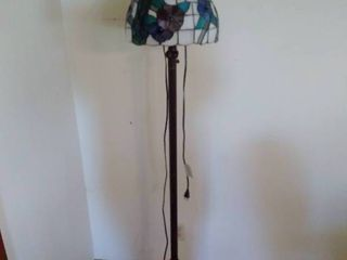 Peacock Stain Glass Design Floor lamp