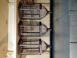 lot of 3 Birdcages all measured at 13 x 7 Inches
