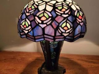 Peacock Design Tiffany Style Stain Glass lamp