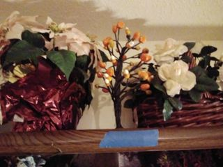 lot of Faux Floral with Candy Corn Tree