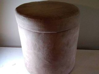 Suede Tan Ottoman With Inside Storage for Clean Socks
