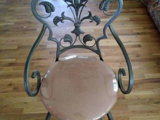 Elegant Metal Swivel Barstool