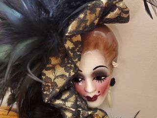 Unbranded Porcelain Feathered Blushing Madam Mask