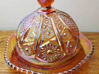 Carnival Iridescent Glass Dish