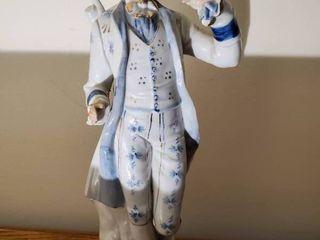 Hand Painted Porcelain Victorian Gentlemen Figurine
