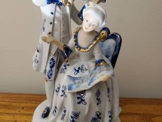Hand Painted Victorian Dutch and Duchess Figurine