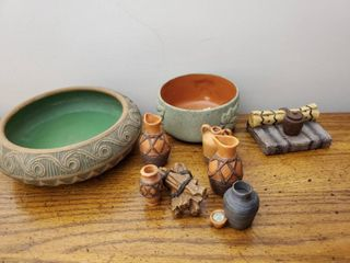 Red Wing Stoneware Bowl and Assortment of Southwest Collectibles