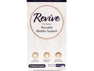 Revive Reusable Bladder Control Support for Women  1 Month Supply  One Size Fits Most  light Bladder leakage Support