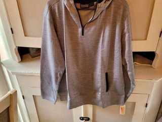 PENNANT SPORTWEAR GREY AND BlACK HOODIE SIZE lARGE
