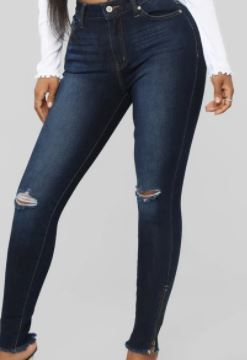 FASHION NOVA I M THE PROBlEM SKINNY JEANS COlOR DARK DENIM SIZE 13