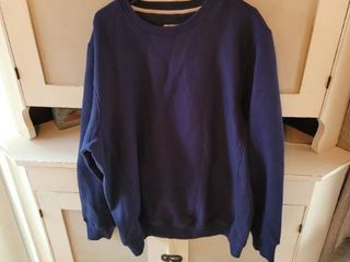 SPORT TEK BlUE SWEAT SHIRT SIZE lARGE
