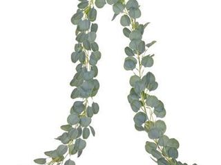 DearHouse Artificial Eucalyptus Garland Faux Silk Eucalyptus leaves Vines Handmade Garland Greenery Wedding Backdrop Arch Wall Decor