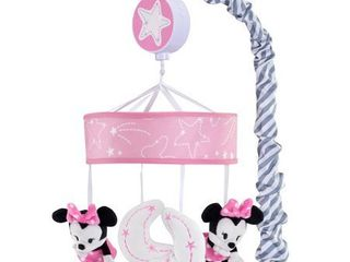 lambs   Ivy Disney Baby Minnie Mouse Musical Crib Mobile  Pink Gray