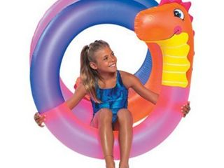 SunSplash Crazy Dino Coil Pool Float for Swimming Pools