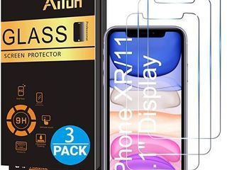 Ailun Glass Screen Protector for iPhone 11 iPhone XR 6 1 Inch 3 Pack Tempered Glass Screen Protector for Apple iPhone 11 iPhone XR 6 1 Inch Display Anti Scratch Advanced HD Clarity Work Most Case