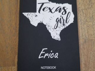 Texas Girl   Erica   Notebook  Blank Personalized Customized Name Texas Notebook Journal Dotted for Women   Girls  Fun Texas Souvenir   University      Birthday   Christmas Gift for Women