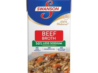 Swanson 50  less Sodium Beef Broth  32 oz