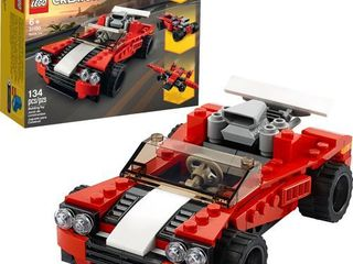lEGO Creator 3in1 Sports Car Toy 31100 Building Kit  New 2020  134 Pieces