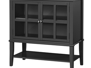 Ameriwood Home Franklin 2 Door Storage Cabinet in Black