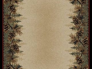 American Destination Mount le Conte Pine Cone lodge Area Rug  7 10 x 9 10    Retail 246 49