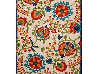 Nourison Aloha Indoor Outdoor Floral Multicolor Area Rug 5 3 x7 5