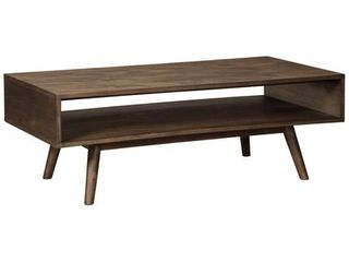 Kisper Mid Century Modern Wooden Rectangular Cocktail Table  Retail 257 49