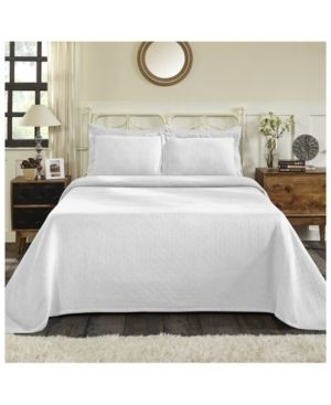 Impressions Brynner Cotton Basket Bedspread 3 Piece Bedding Set  Queen