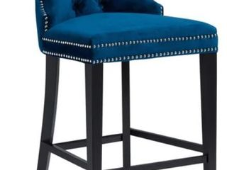 Abbyson Versailles 30 inch Navy Blue  Tufted Bar Stool  Retail 316 99