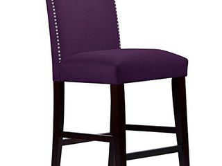 Skyline Furniture Purple Velvet Barstool