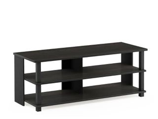 Porch  amp  Den Shelby Wood 3 tier Modern TV Stand  Espresso