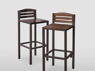 lilith Acacia Wood Barstool  Set of 2  by Christopher Knight Home  15 75 In  X 17 5 In  X 38 0 In  Retail 134 49