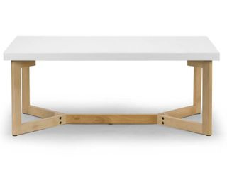 Aniya White Coffee Table with Beech Wood legs  Retail 195 99