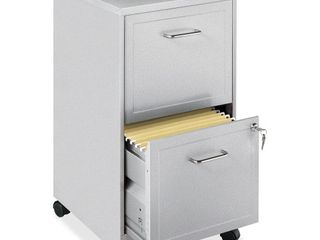 Space Solutions 18  Deep  2 Drawer Mobile File Cabinet  Silver  Retail 77 98