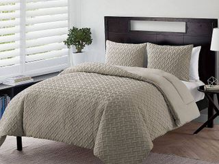VCNY Home Nina Comforter Set  Full Queen  Taupe