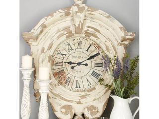 Fiberglass 44 inch x 34 inch Wall Clock  Retail 352 49  DAMAGED TOP  SEE PHOTOS
