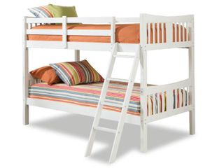 Storkcraft Caribou Solid Hardwood Twin Bunk Bed with ladder and Safety Rail  Box A  Incomplete Item  Retail 297 99