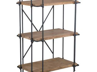 Yorktown Industrial 3 Shelf Firwood Bookcase by Christopher Knight Home   27 25  W x 17 00  D x 40 75  H  Retail 167 99