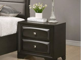 Oakland Antique Gray Finish Wood 2 Drawers Nightstand  Retail 152 99  SlIGHT DAMAGE  SEE PHOTOS